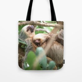 Yawning Baby Sloth - Cahuita Costa Rica Tote Bag