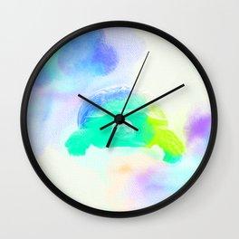 Watercolor Sulcata Tortoise Wall Clock
