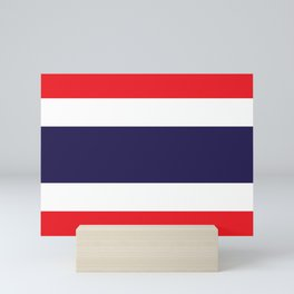 flag of thailand 2 -thailand,Siam,thai,siamese,bangkok. Mini Art Print