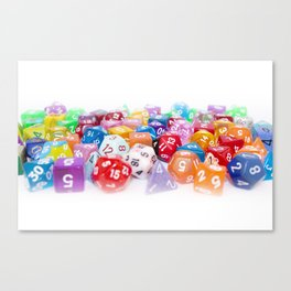 Treasure Trove of Gaming Dice Canvas Print