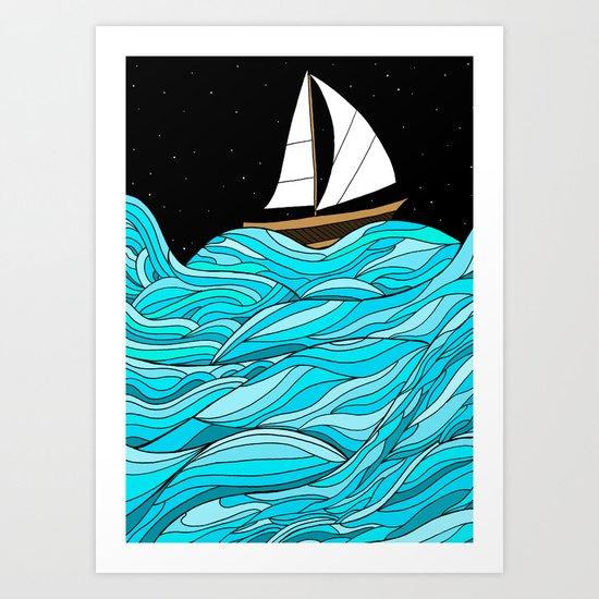 Night Sea Art Print