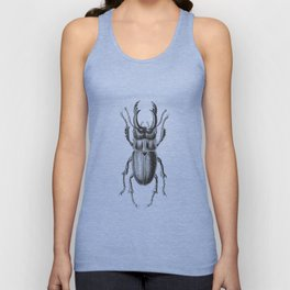 Grunge Style Stag Beetle Unisex Tank Top