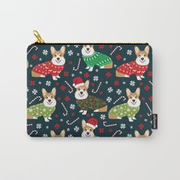 Corgi christmas sweater ugly sweater party with welsh corgis dog lovers dream christmas Carry-All Pouch