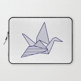 Swan, navy lines Laptop Sleeve