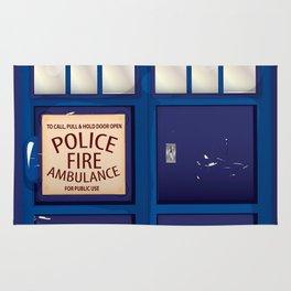Police Call Box Rug