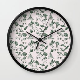Tropical Dogs Wall Clock