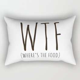 WTF - Where's The Food? Rectangular Pillow
