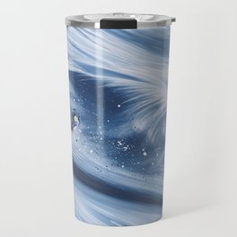 'Snowboarding Blue Blower' Travel Mug
