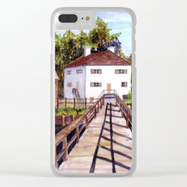 Wooden Bridge Clear iPhone Case