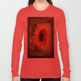 Vintage Sunflower Framed Long Sleeve T-shirt