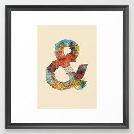Psychedelic Ampersand Framed Art Print