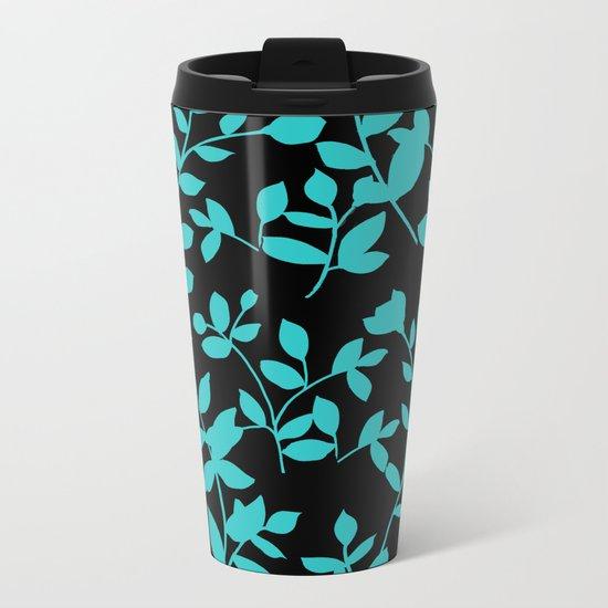 black and blue Metal Travel Mug