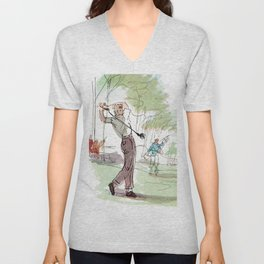 Are You Looking At My Putt? Vintage Golf Unisex V-Neck