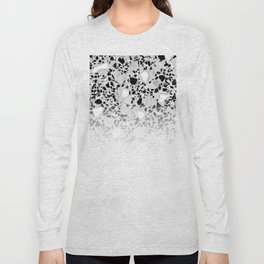 Concrete Terrazzo and Black and White Modern Monochrome Design Long Sleeve T-shirt