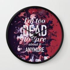 Too dead Wall Clock