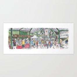 Davis Farmer's Market panorama Art Print