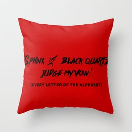 Every Letter of Alphabet Throw Pillow