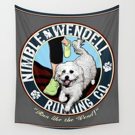 Nimble Wendell Running Co. (Vintage Logo) Wall Tapestry