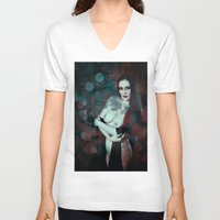 asia V-neck T-shirts featuring Asia by Sirenphotos