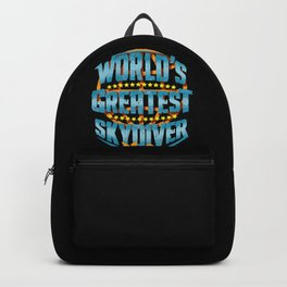 Skydiving World's Greatest Skydiver Adventure Seeker Gift Backpack