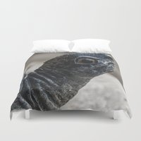 turtle Duvet Covers featuring Turtle by MehrFarbeimLeben