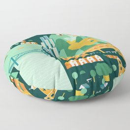 Floripa Brazil Floor Pillow