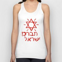 israel Tank Tops featuring Bless Israel by biblebox