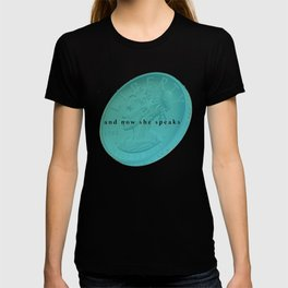 and now she speaks T-shirt