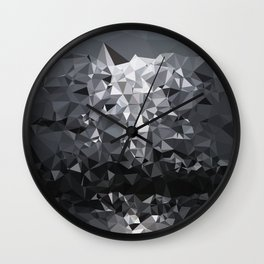 Geometric Glacier Wall Clock