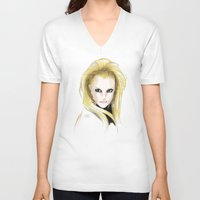 britney spears V-neck T-shirts featuring Britney Spears Scream & Shout by Eduardo Sanches Morelli