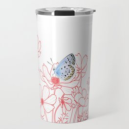 Cosmos and Butterfly Travel Mug