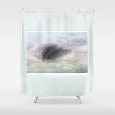 Swooping and looping Shower Curtain