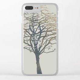 Birch tree on a windy day Clear iPhone Case