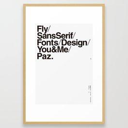 Nº1. Helvetica Posters by empatía® Framed Art Print