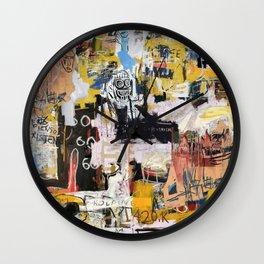 Basquiat World Wall Clock