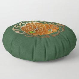 Peacock Celtic Deco Floor Pillow