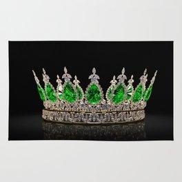 Emerald Jeweled Crown Rug