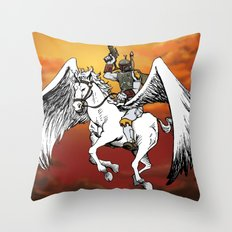 Boba Fett riding Pegasus Throw Pillow