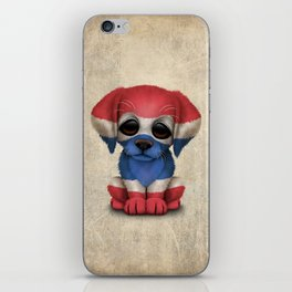 Cute Puppy Dog with flag of Thailand iPhone Skin