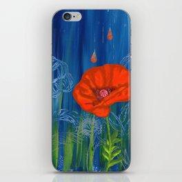 Poppy Night iPhone Skin