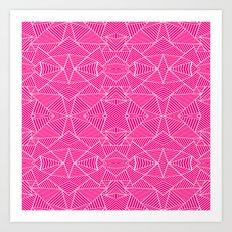 Ab Zoom Mirror Fushia Art Print