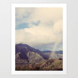 Kauai Rainbow - Hawaii Nature, Landscape Photography Art Print