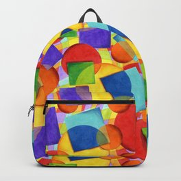 Candy Rainbow Circus Plaid Backpack