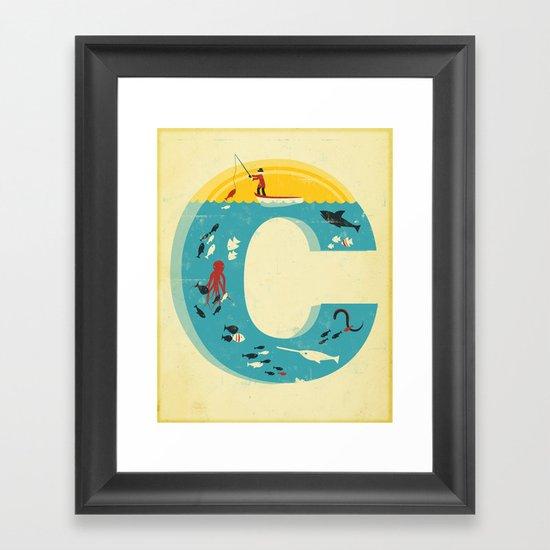 Plenty of Fish in the C Framed Art Print