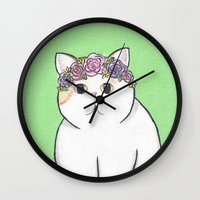 snoopy Wall Clocks featuring Snoopy Babe by Frisky Fauna