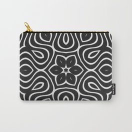 Dark Petal Waves Pattern Carry-All Pouch