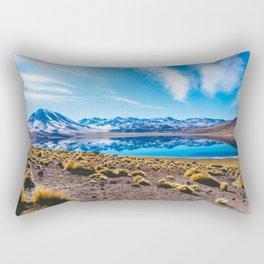 Laguna Miñiques, San Pedro de Atacama Desert, Chile Rectangular Pillow