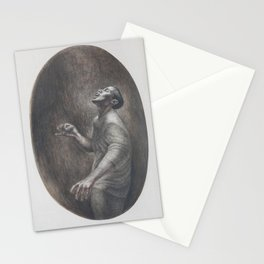 African-American Classical Masterpiece 'Folk Singer' by Charles White Stationery Cards
