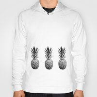 pineapples Hoodies featuring Cool Pineapples  by Yilan