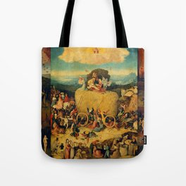 """Hieronymus Bosch """"The Haywain Triptych"""" Tote Bag"""